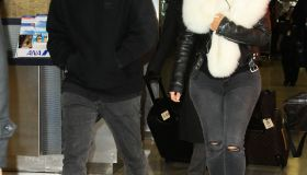 kim kardashian kanye west jfk airport
