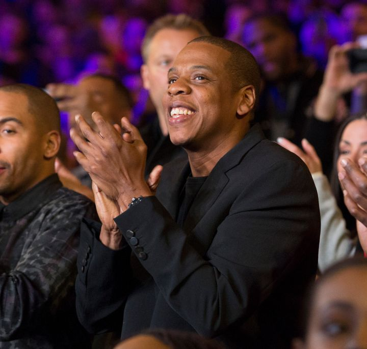 Jay Z cheers on the contenders.