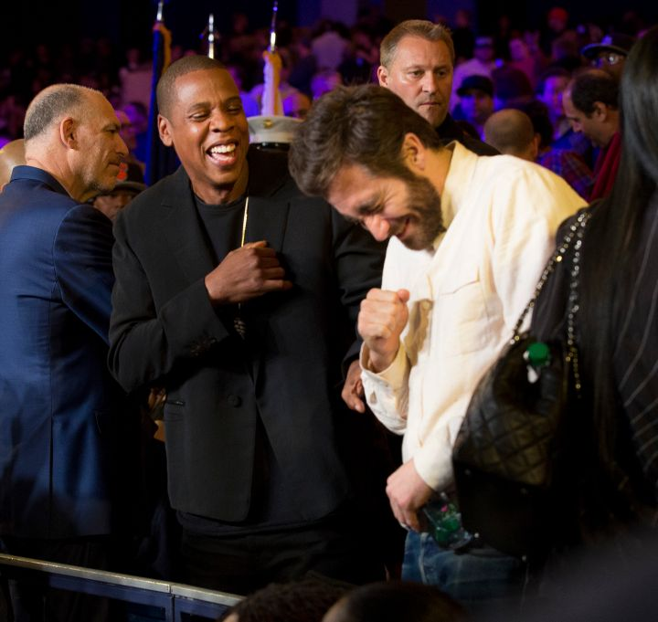 Jay Z and Jake share a good laugh.
