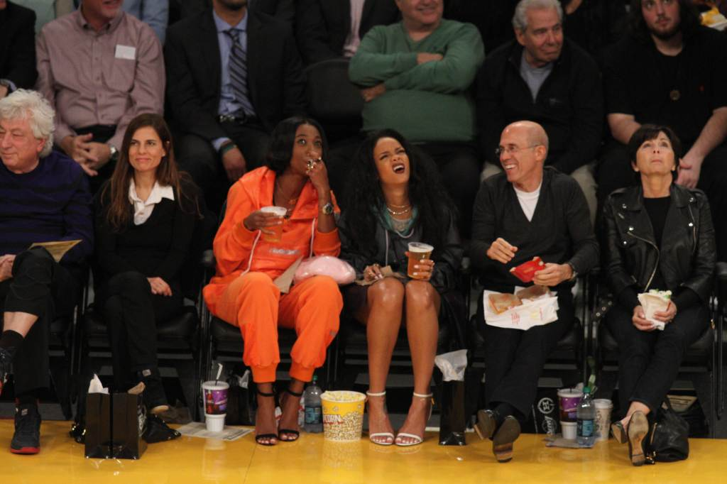 Rihanna spotted at a Basketball game in LA