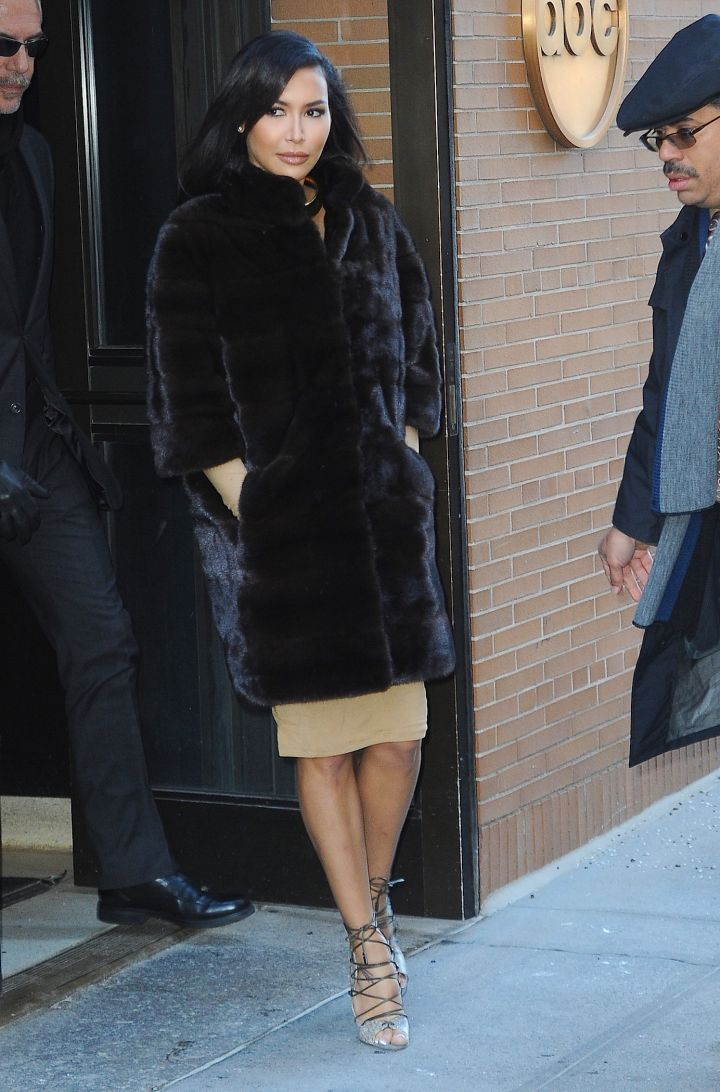 "Naya Rivera seemed super ""Glee""-ful while out and about in New York City."