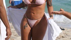 amber rose bikini miami beach