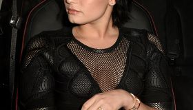 Demi Lovato spotted leaving the Ivy
