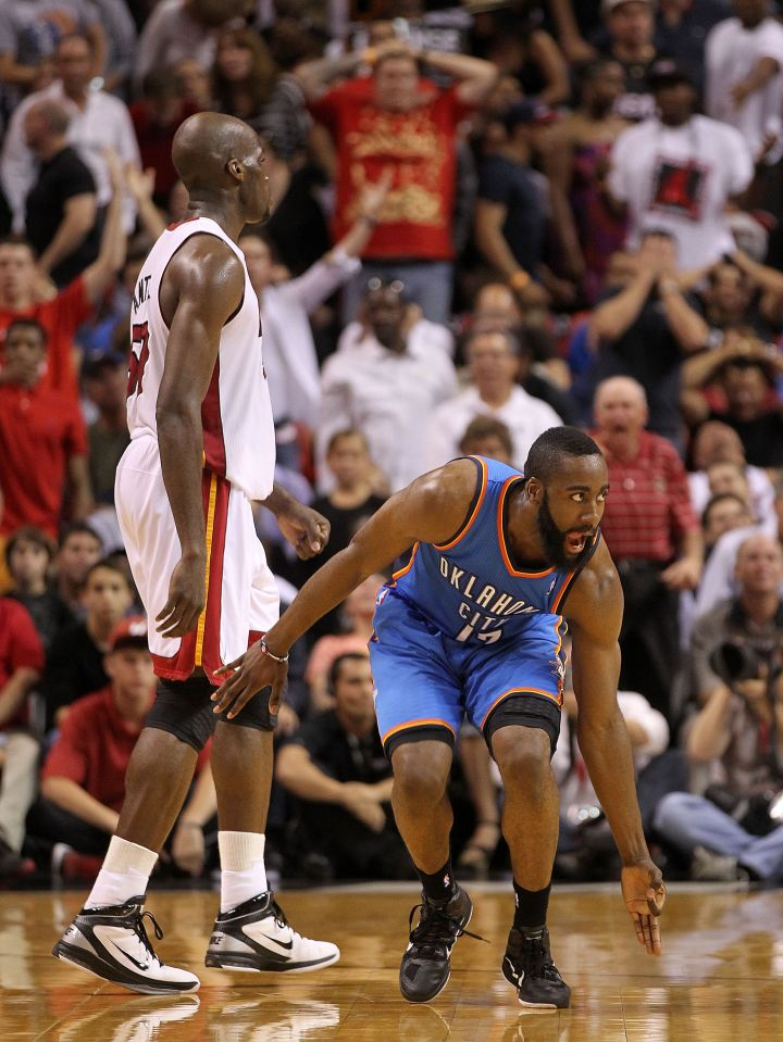 James Harden makes it hard to watch for Miami Heat fans, 2011. Four years later, 2015 MVP front runner.