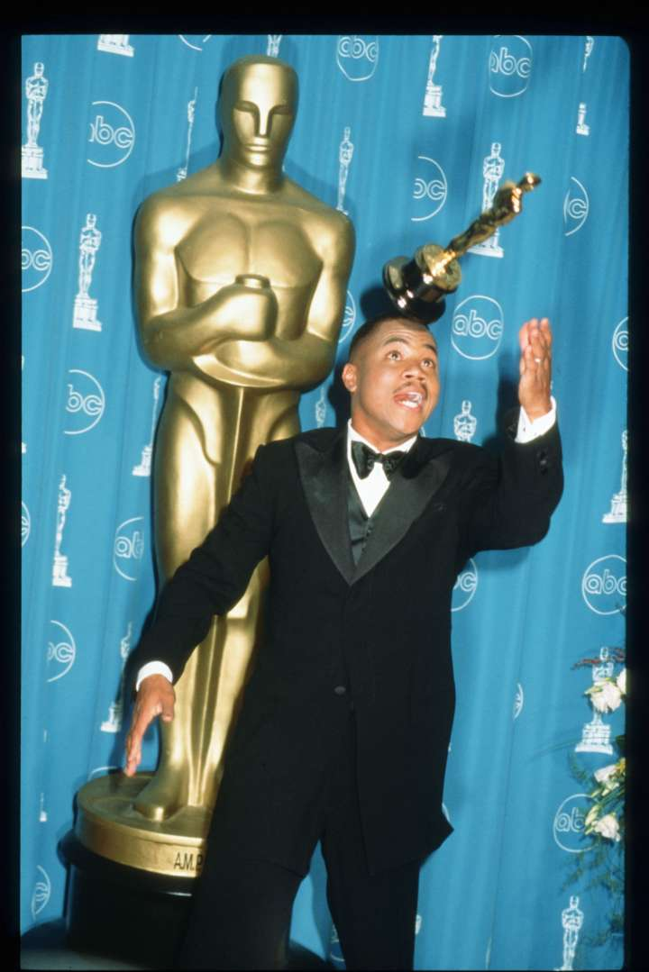 "Cuba Gooding Jr. was a bit excited when he won Best Supporting Actor for his role in ""Jerry Maguire."""