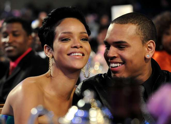 Rihanna and Chris Brown at Salute To Icons: Clive Davis event for 2009 Grammys