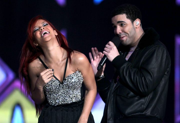 But RiRi and Drake always look pretty happy together too.