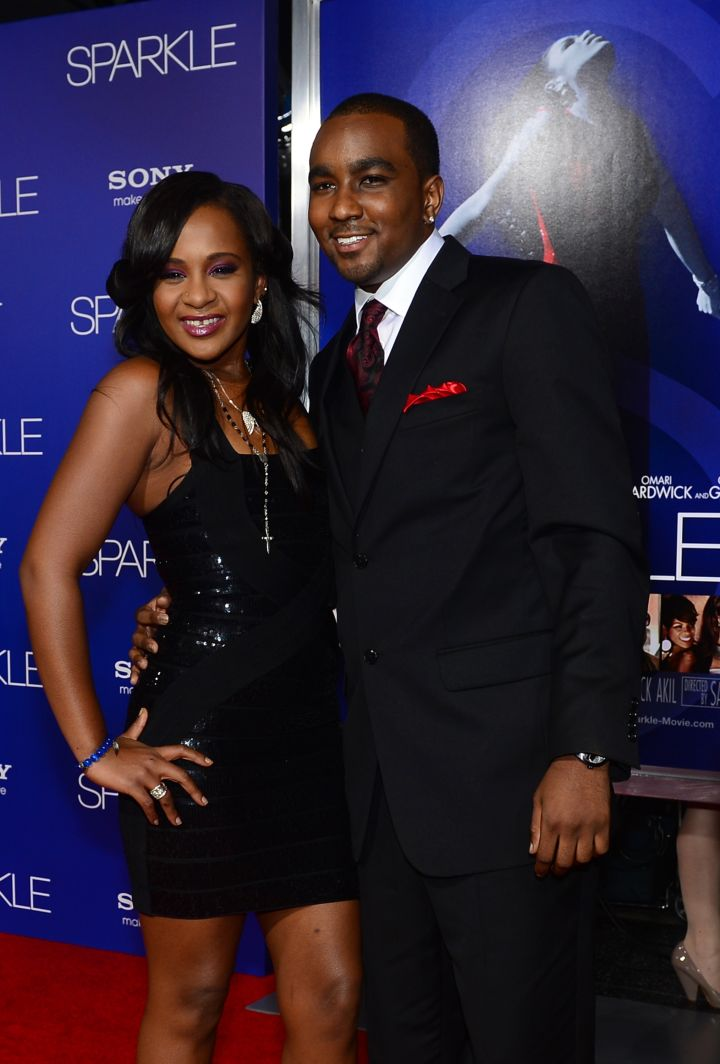 "Bobbi Kristina and Nick Gordon at the premiere of ""Sparkle"" at Grauman's Chinese Theater in Hollywood."