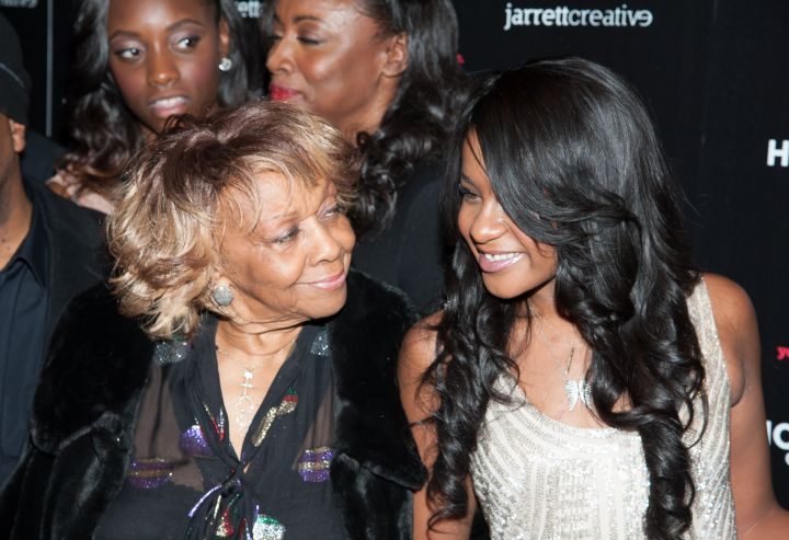 "Cissy Houston and Bobbi Kristina Brown attend ""The Houstons: On Our Own"" Series Premiere Party at the Tribeca Grand Hotel in NYC."