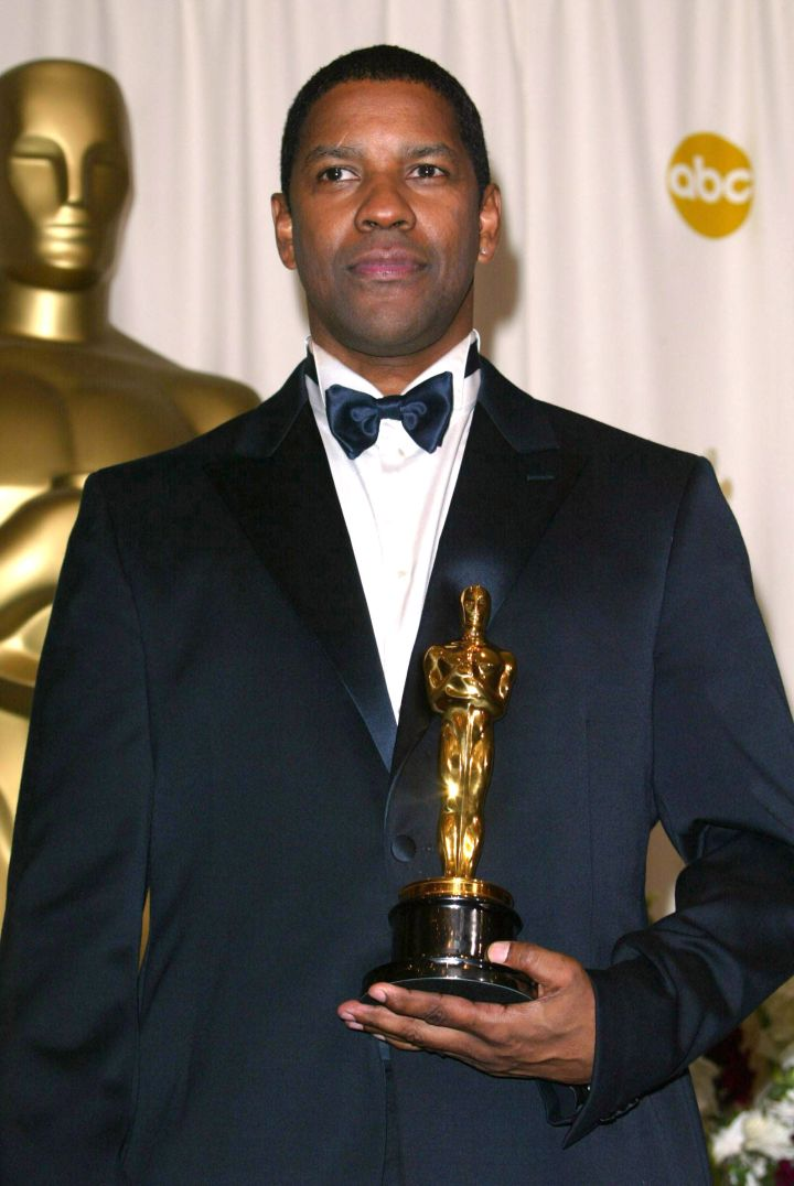 "Denzel Washington took home his gold for his role in ""Training Day."""