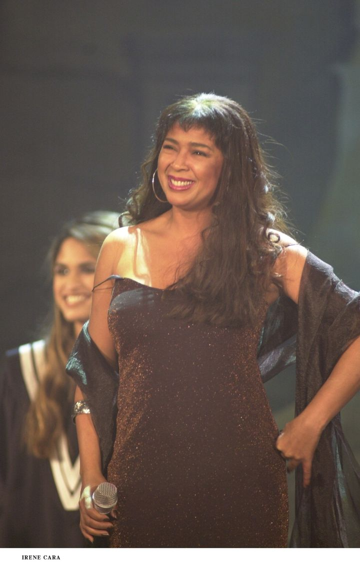 Irene Cara was the first African American to win for a non-acting role when she won for Best Original Song.