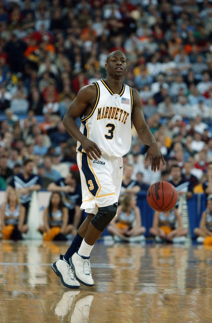 Dwyane Wade against University of Missouri during the NCAA Tournament, 2003.
