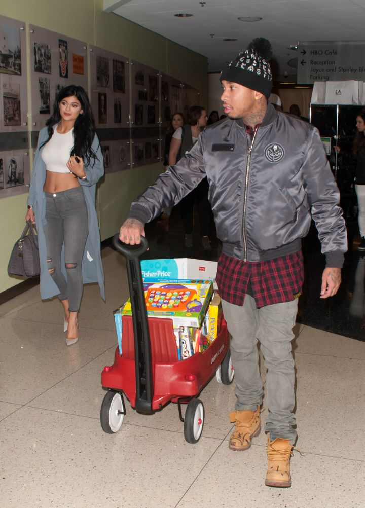 Tyga takes the wheel.