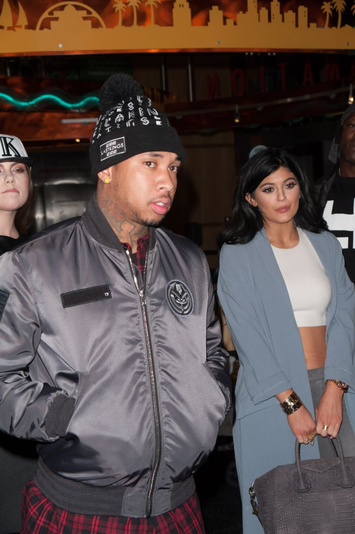 Kylie and Tyga do good deeds at a children's hospital together.