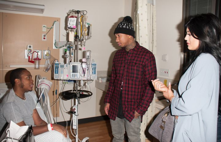 Kylie and Tyga do a good deed together.