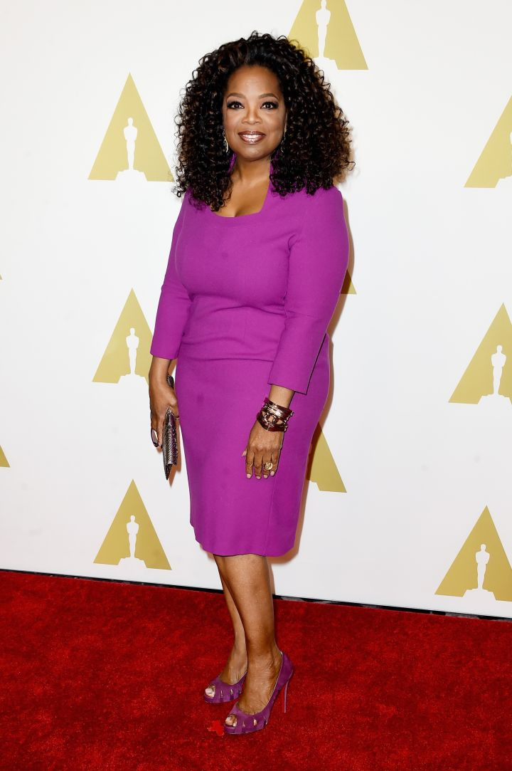 """Everyone knows Oprah has been making history for almost 30 years. In 2015, she's the first black female producer to be nominated for Best Picture at the Academy Awards for """"Selma."""""""