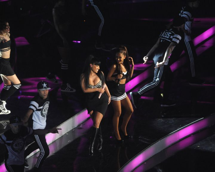 Nicki and Ariana hit the stage.