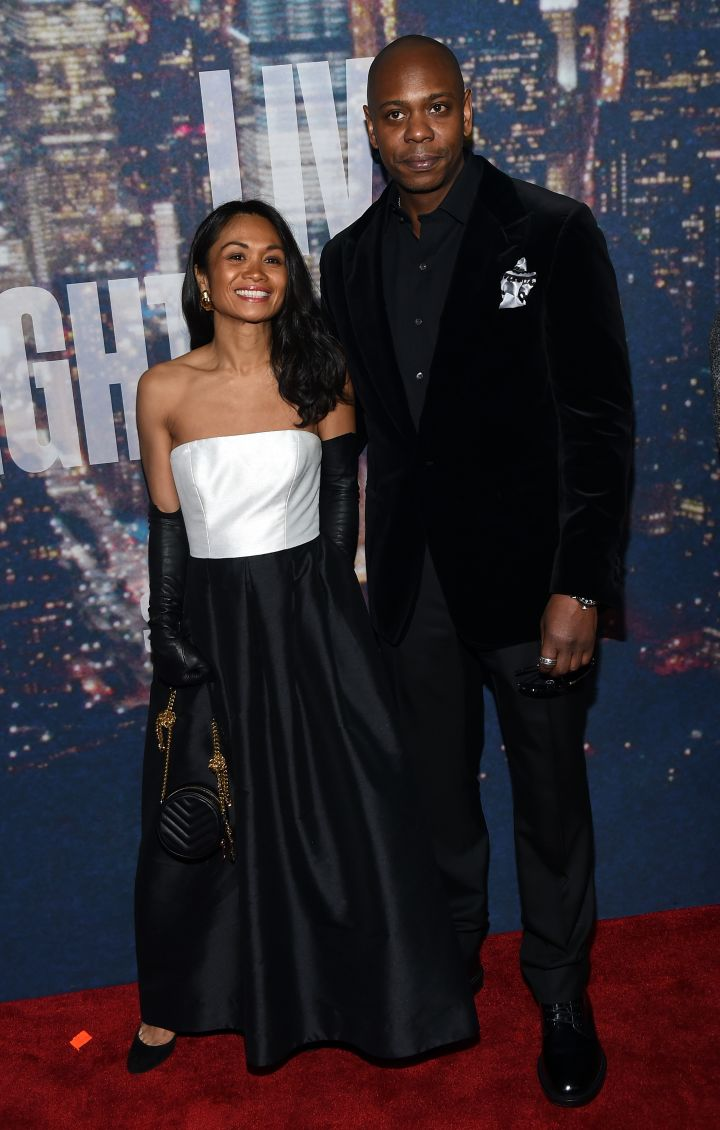 Dave Chappelle and his wife