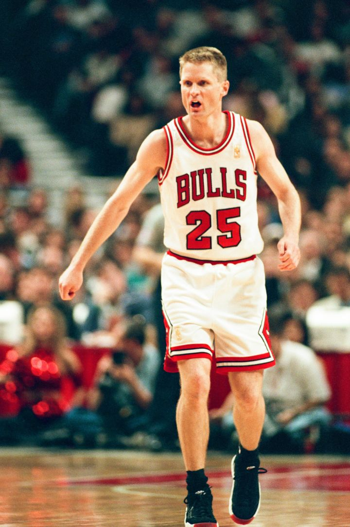 Western Conference All-Star team Coach Steve Kerr during his championship run with the Bulls, 1998.
