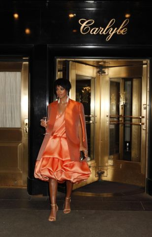 MET Gala 2014 - Departures From The Carlyle