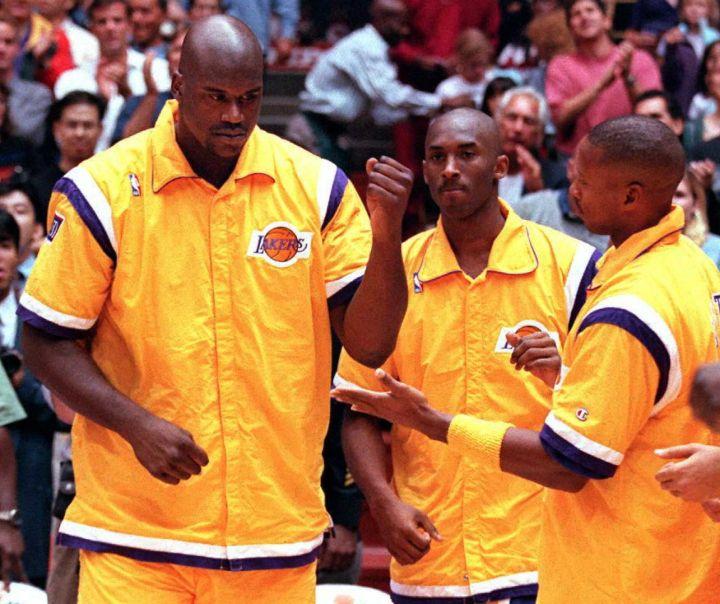 Kobe following The Big Aristotle, before the break-up, 1996.