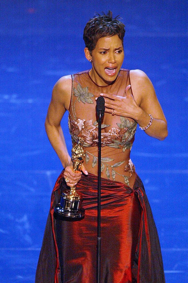 "Who can forget Halle Berry's emotional speech when she won for her impeccable acting in ""Monster's Ball."""