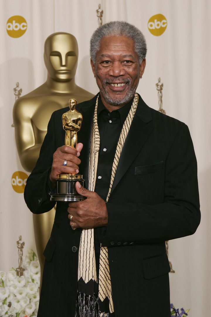 "Morgan Freeman snagged himself a statute for Best Supporting Actor in ""Million Dollar Baby."""
