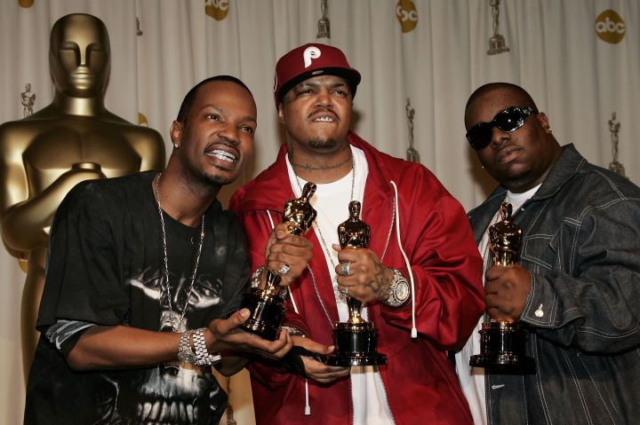 Three 6 Mafia broke the record and caused quite the stir as the first rappers to win an Oscar.