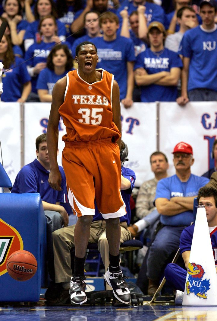 Cold-blooded KD demoralizes the Kansas Jayhawks and fans, 2007.