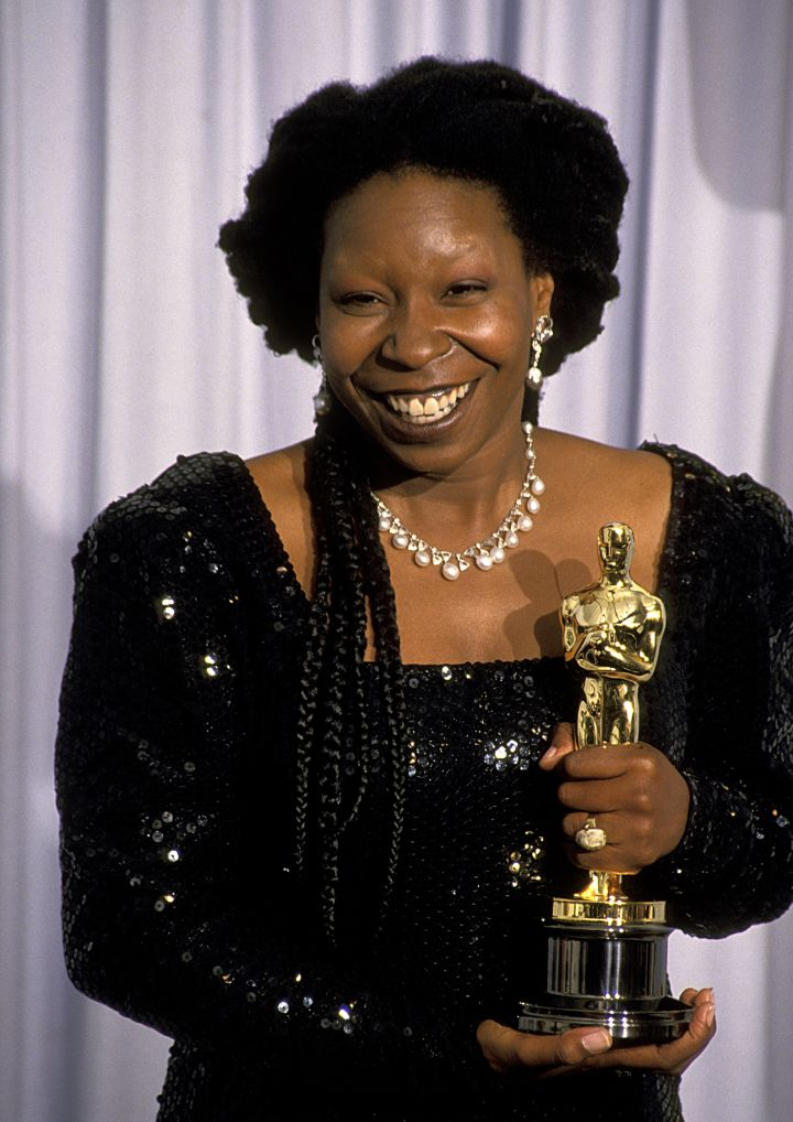 "Whoopi Goldberg won for her role as a spirit medium in ""Ghost."""