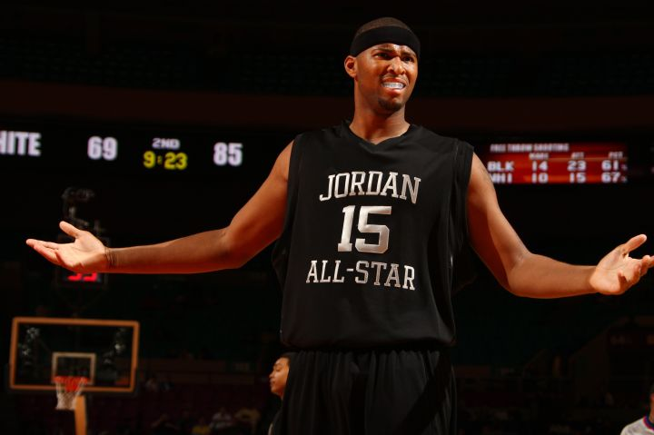 DeMarcus Cousins objects to a call during the 2009 Jordan Brand All-American Classic.