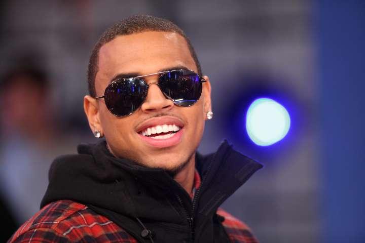 Chris Brown Visits BET's '106 & Park'