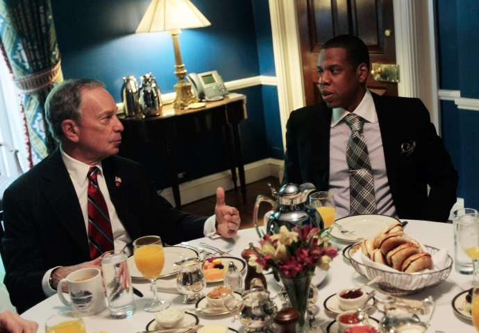 Bloomberg Meets With Developer Ratner, Net's Owner Prokhorov And Jay-Z