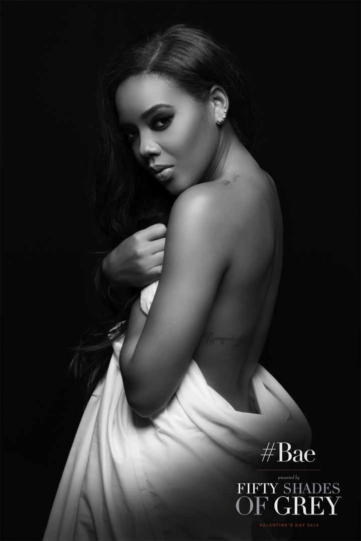 Angela Simmons gave the sexy and sultry look.