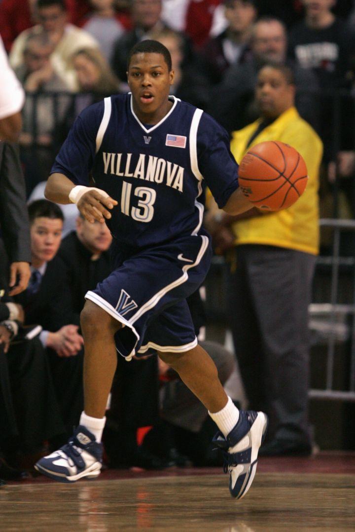 Kyle Lowry during a game against Rutgers University Scarlet Knights, 2005.