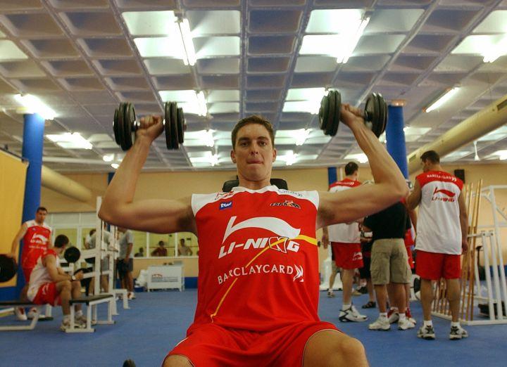 Pau Gasol training for the Athens Olympic Games in San Fernando, South Spain, 2004.