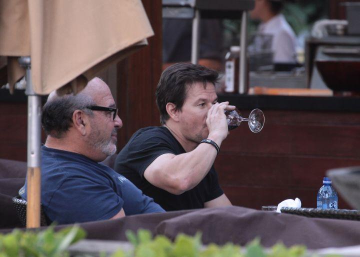 Mark Wahlberg threw a glass back.