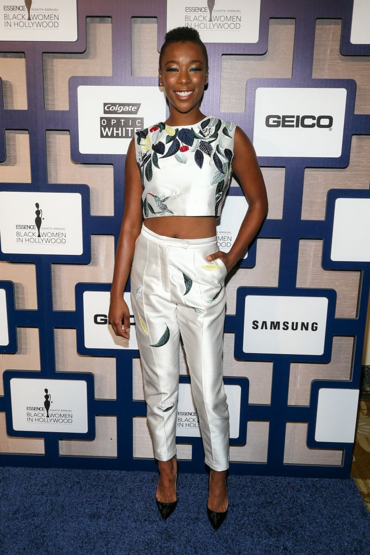 Samira Wiley switched it up and went for pants.