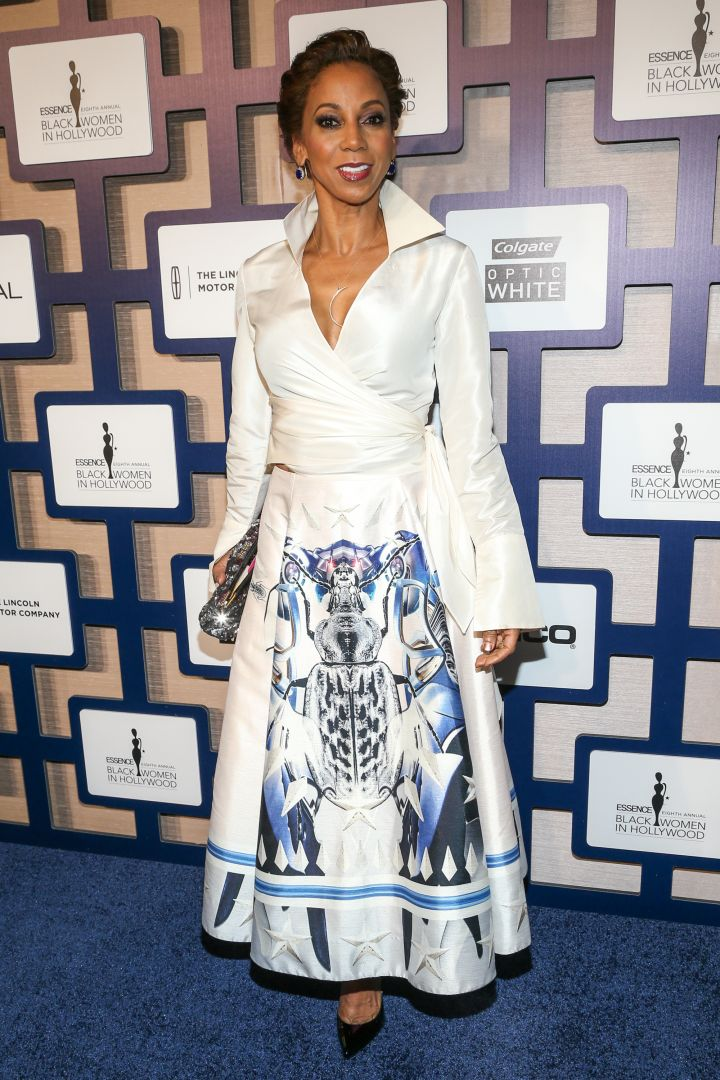 Holly Robinson Peete went for an A-line skirt.