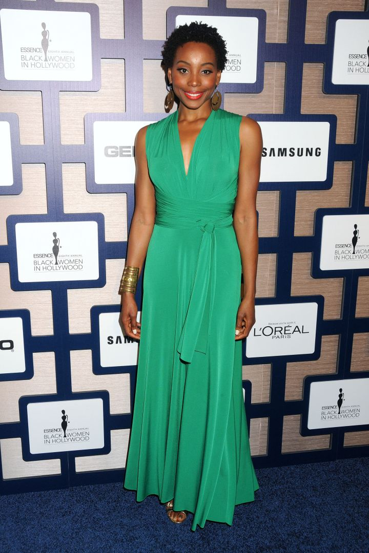 Erica Ash also made an appearance and stunned in emerald green.