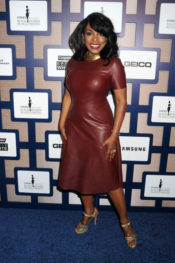 Sheryl Lee Ralph switched it up and rocked some burgundy leather.