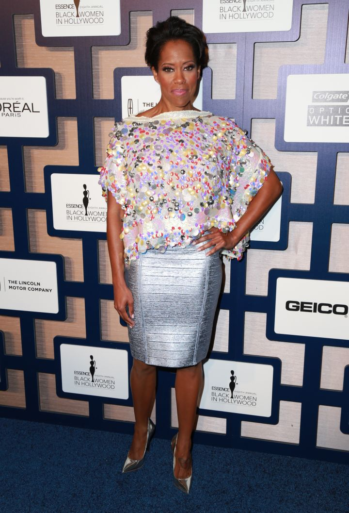 Regina King rocked a metallic dress.