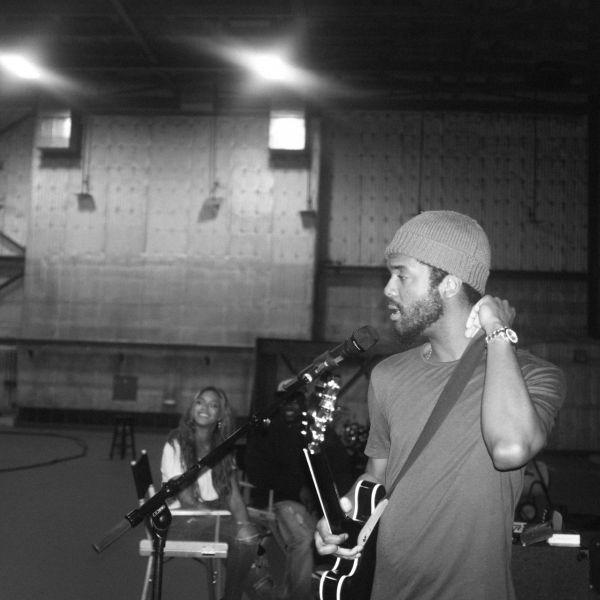 Beyonce has fun while rehearsing.