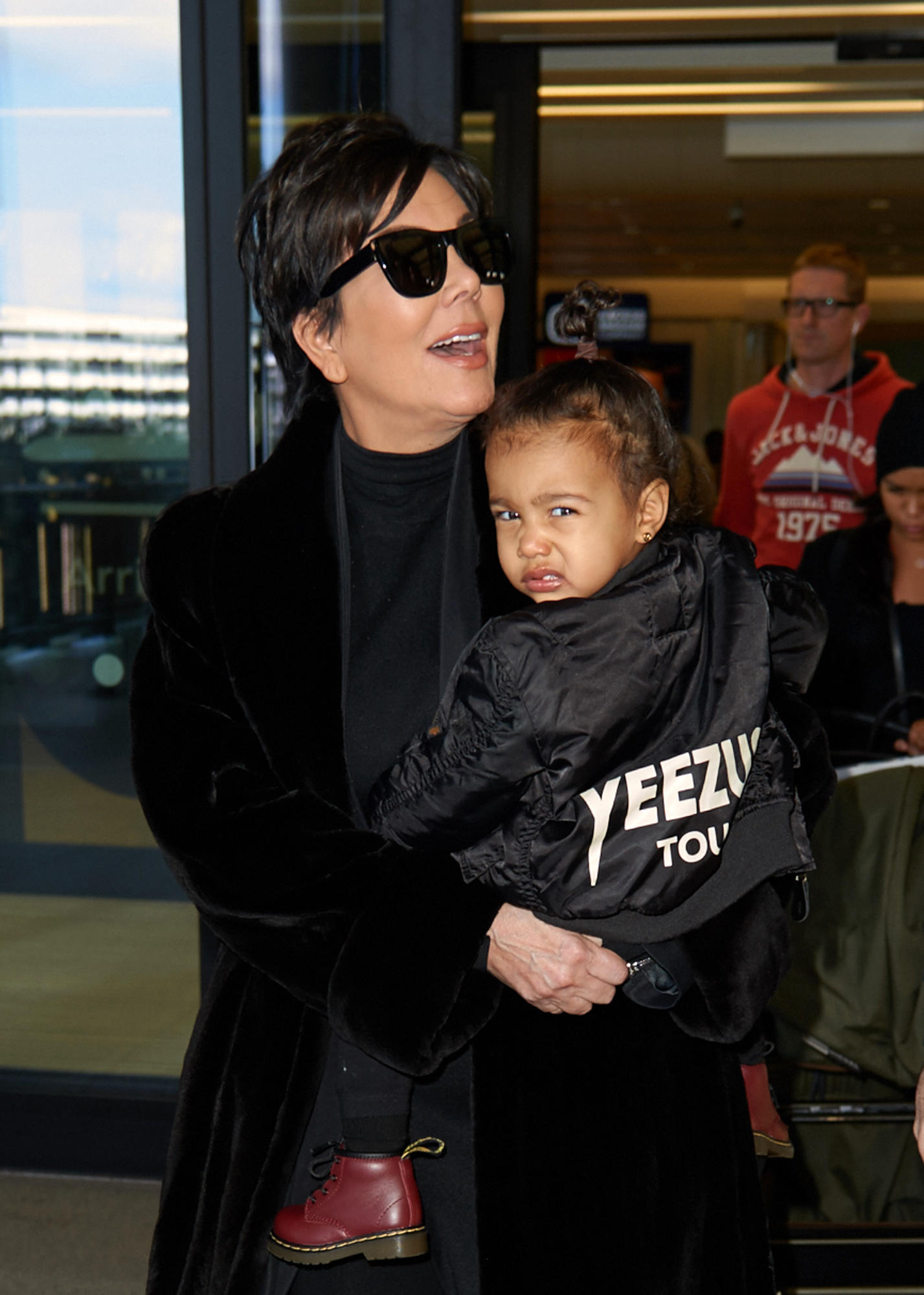 Kris Jenner and North West At Heathrow