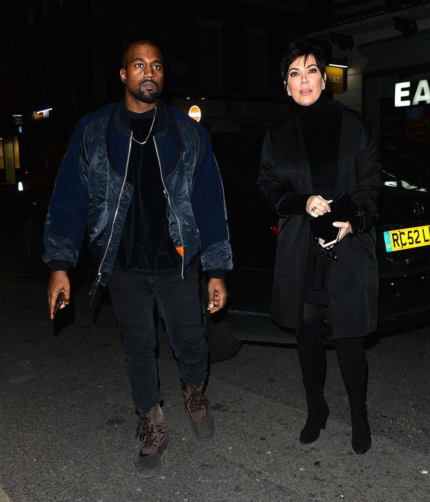 Kanye West and Kris Jenner enjoy a night out at The Arts Club in Mayfair.