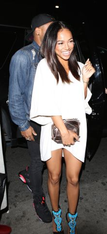 Karrueche Tran At Warwick Club in Hollywood