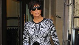 Kris Jenner heads to Paris Fashion Week's Balmain Show