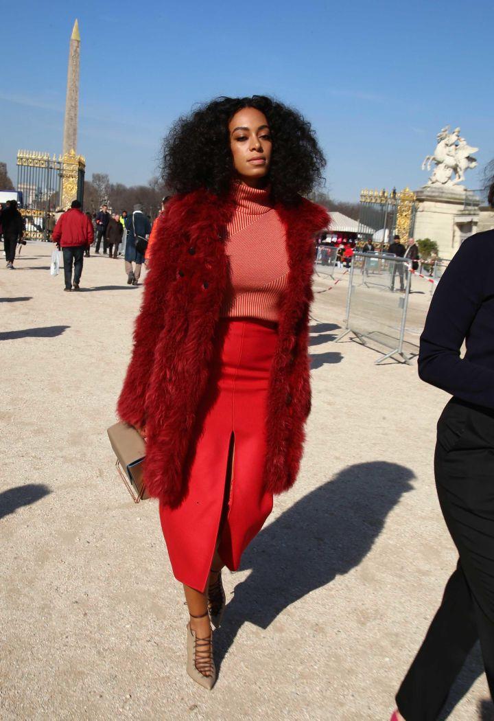 Carven fashion show in Paris.
