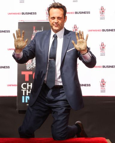 Vince Vaughn immortalized with a hand and footprint ceremony