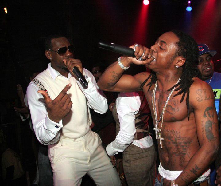 Lil Wayne Performing At LeBron James' 21st Birthday Party.